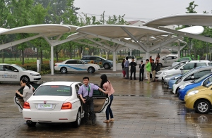 Some 80,000 people have taken test drives in EVs in Jiading.