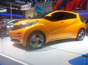This BEV concept from Nissan partner Dongfeng might look familiar.