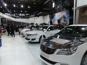 SAIC showed a big line up of PEVs at the 2014 show. What will it have this year?