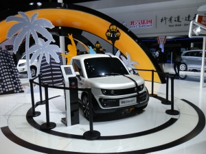 BAIC  had a big EV display, combined with its Leshi connected car concept.