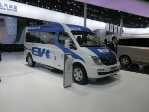 SAIC's electric van