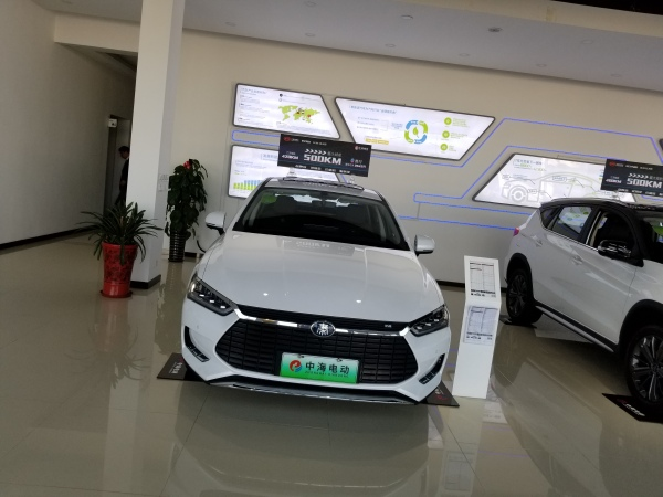 BYD Tang BEV in EV dealership
