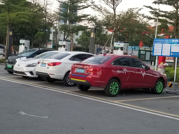 EVs charging in GZ